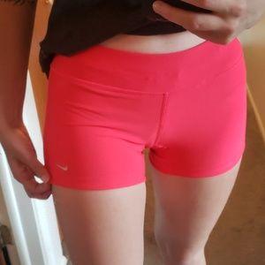 Nike dri fit neon pink spandex